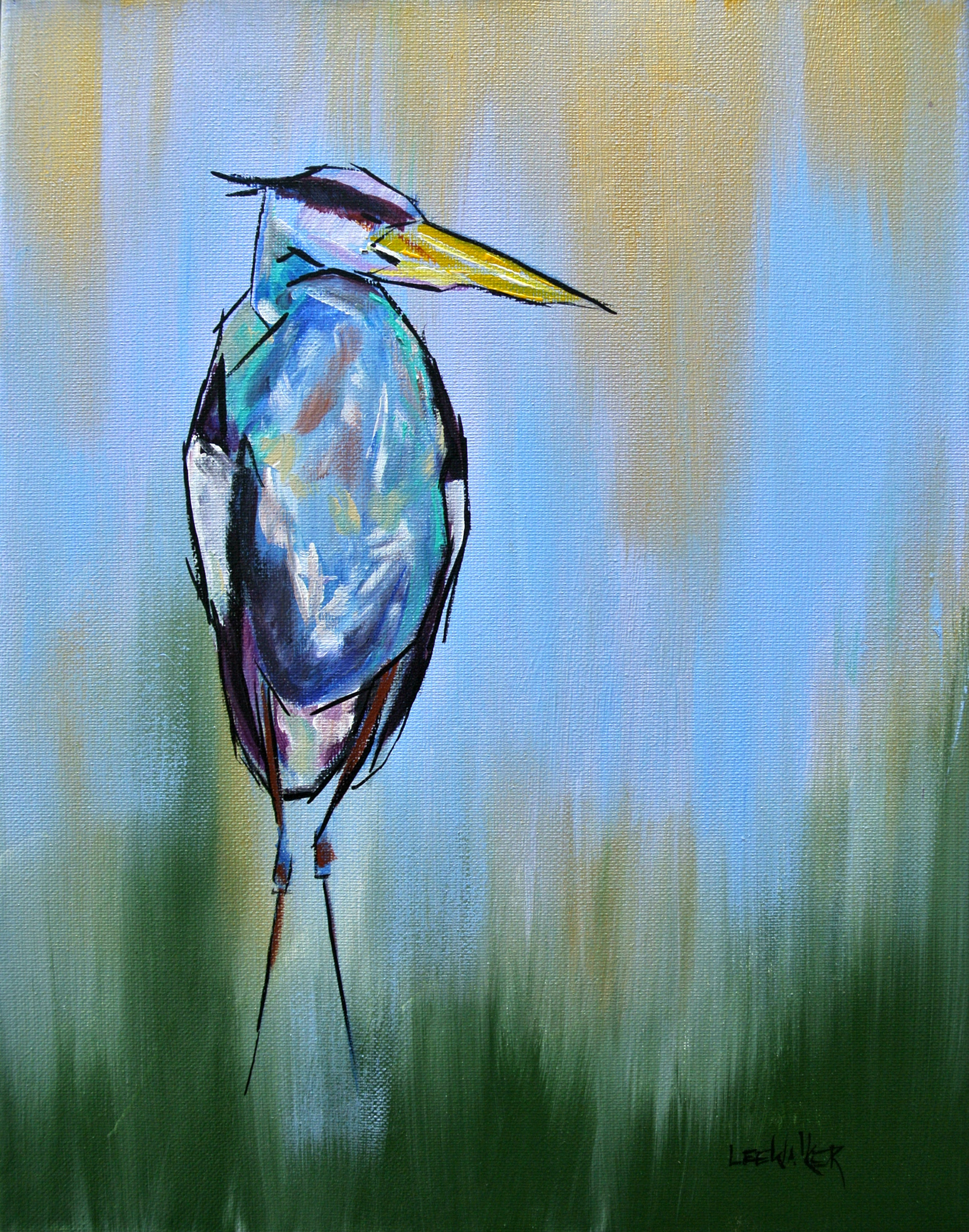 Great Blue Heron 11x14""