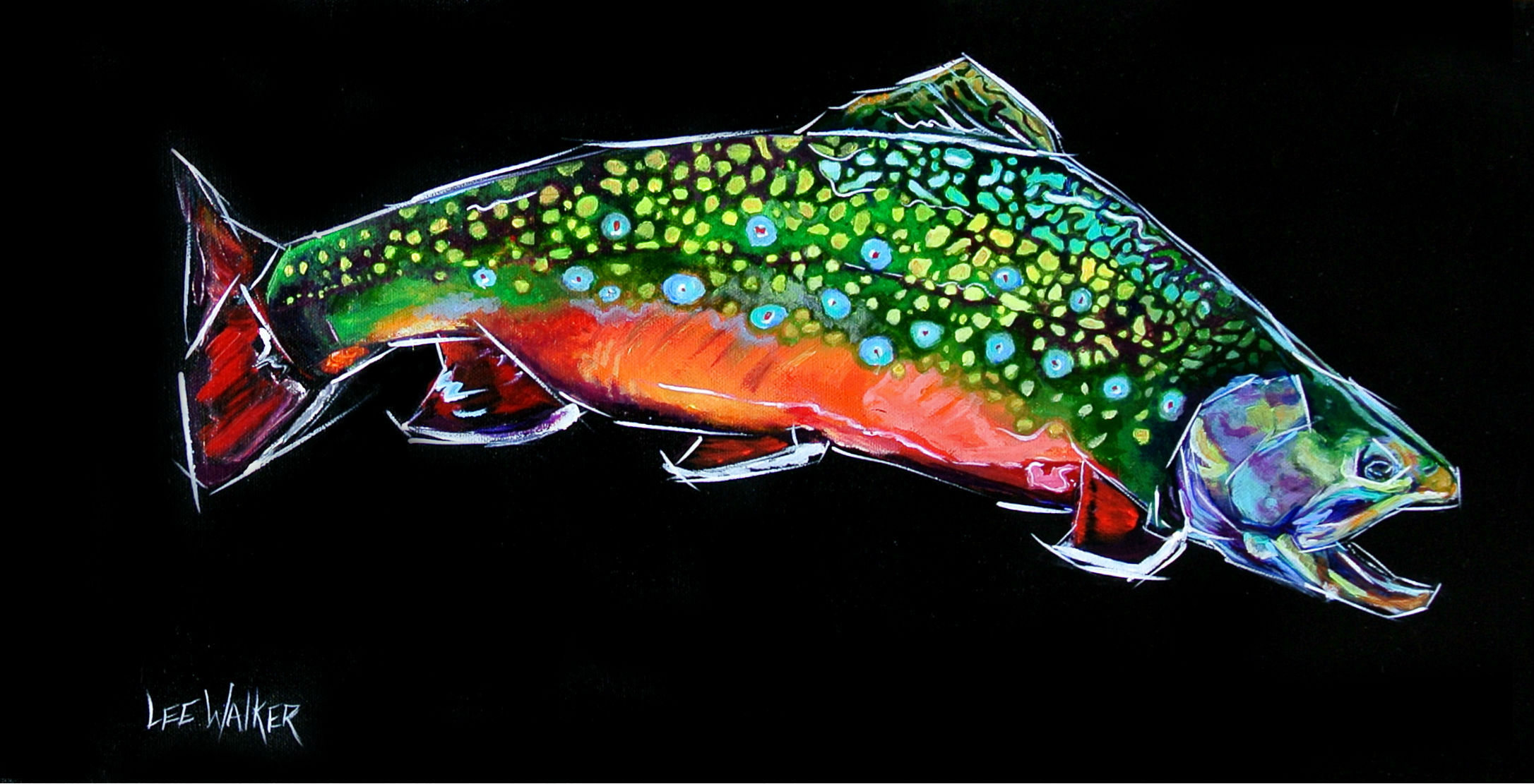 Brook Trout 12x24""