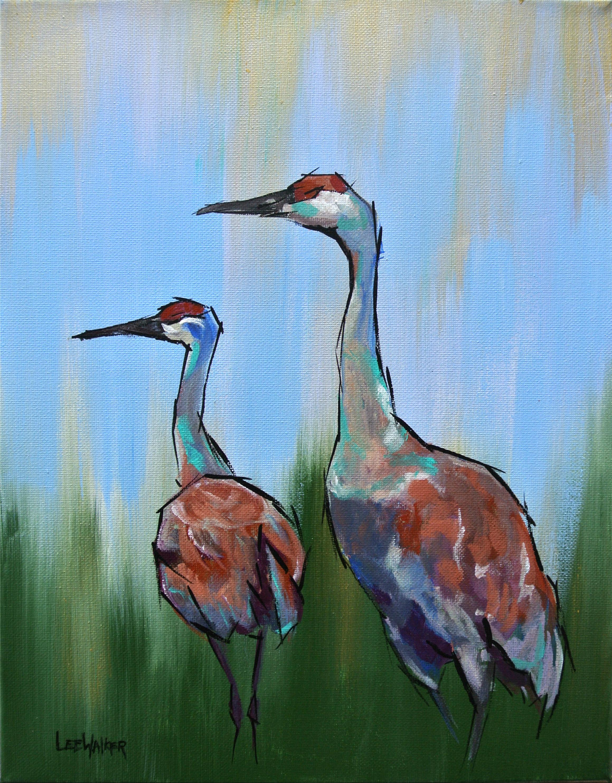 "Sandhill Cranes 11x14"""