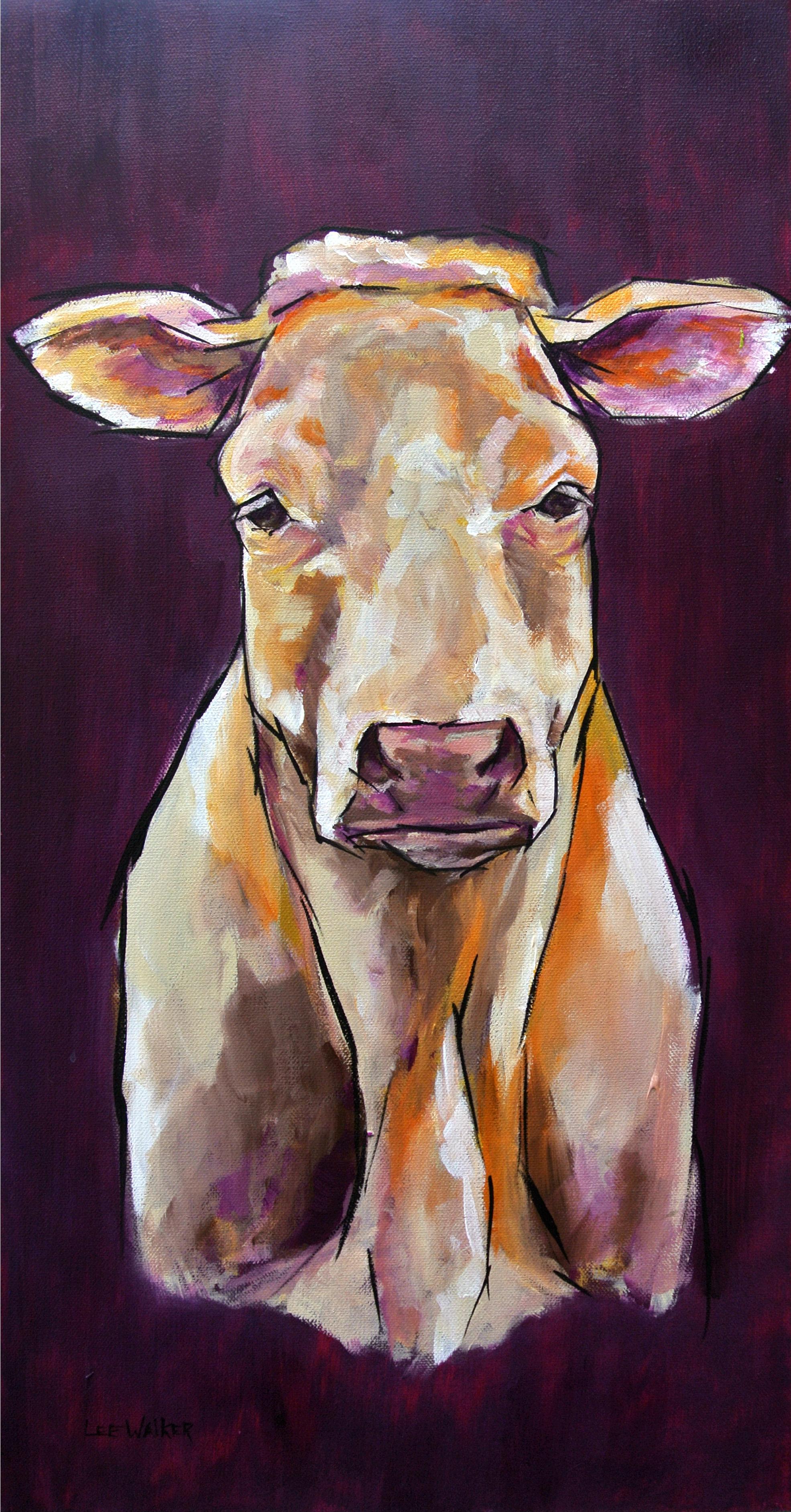 "Charolais Cow 15x30"""