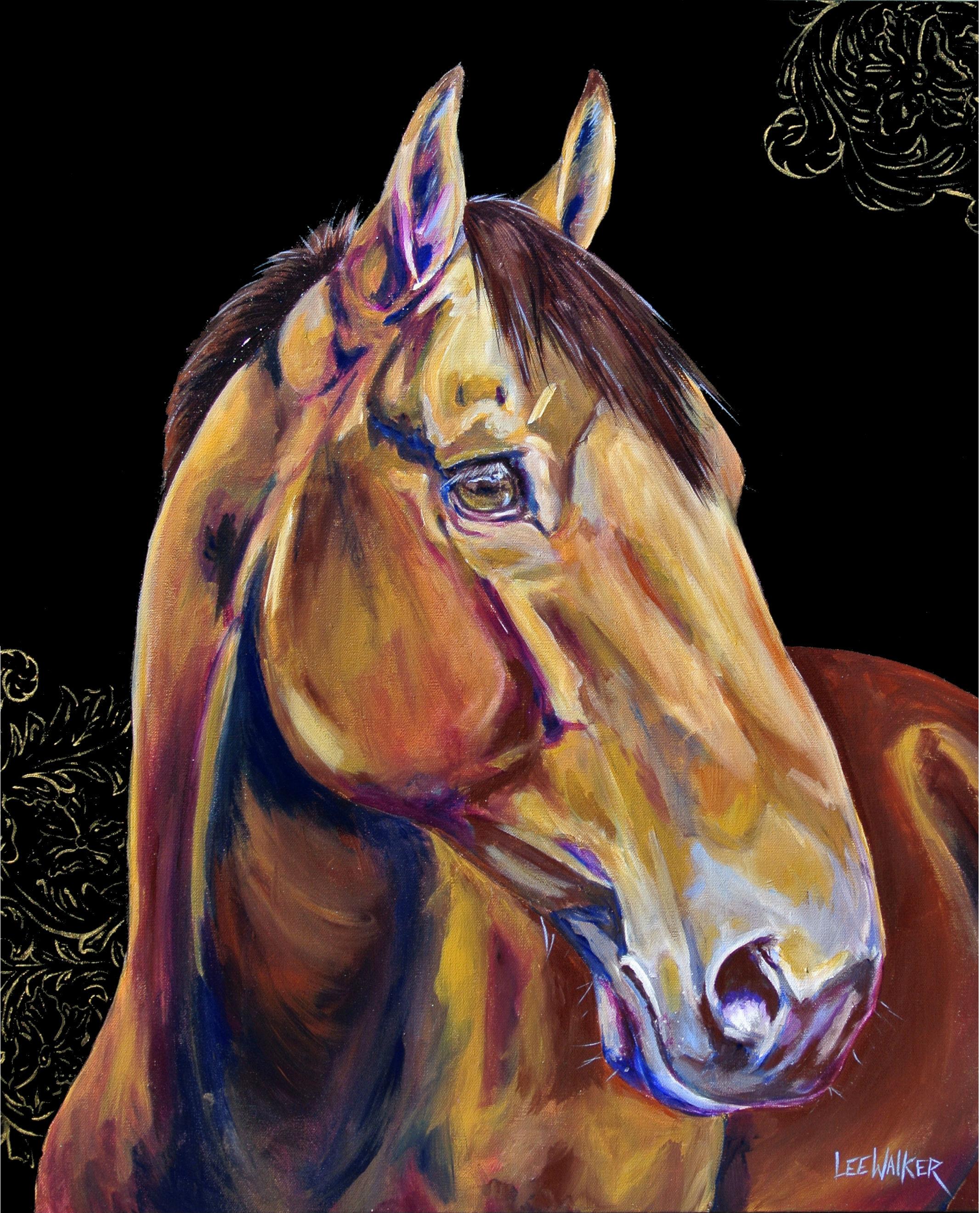 "Flower Horse 1 24x30"""