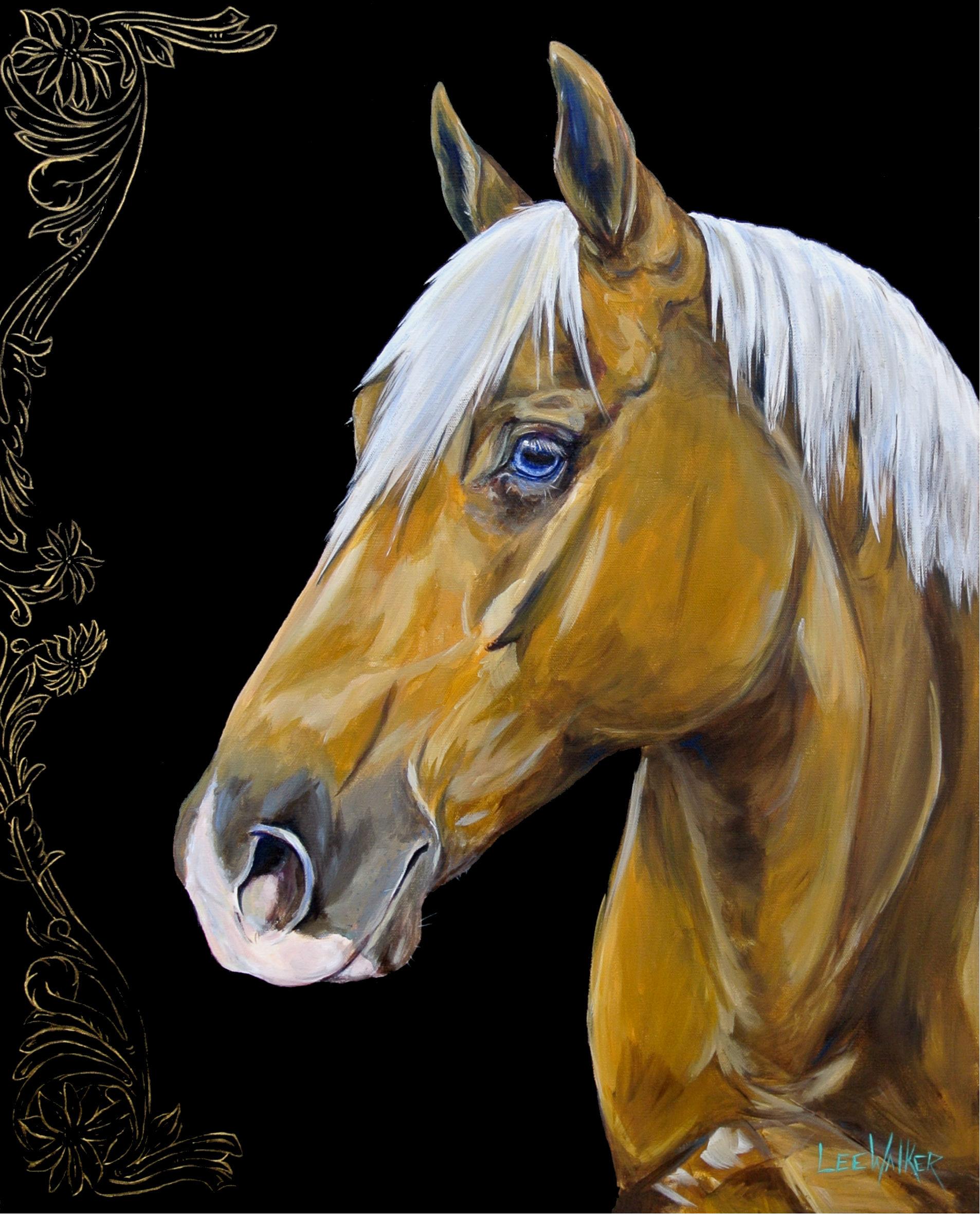 "Flower Horse 2 24x36"""