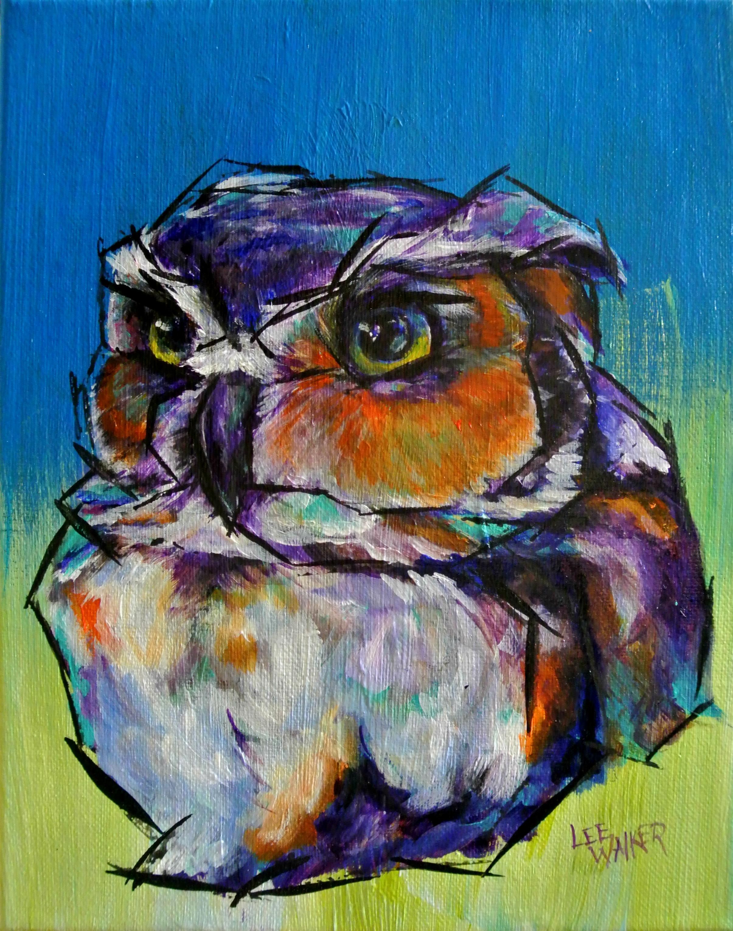 "Owl 8x10"""