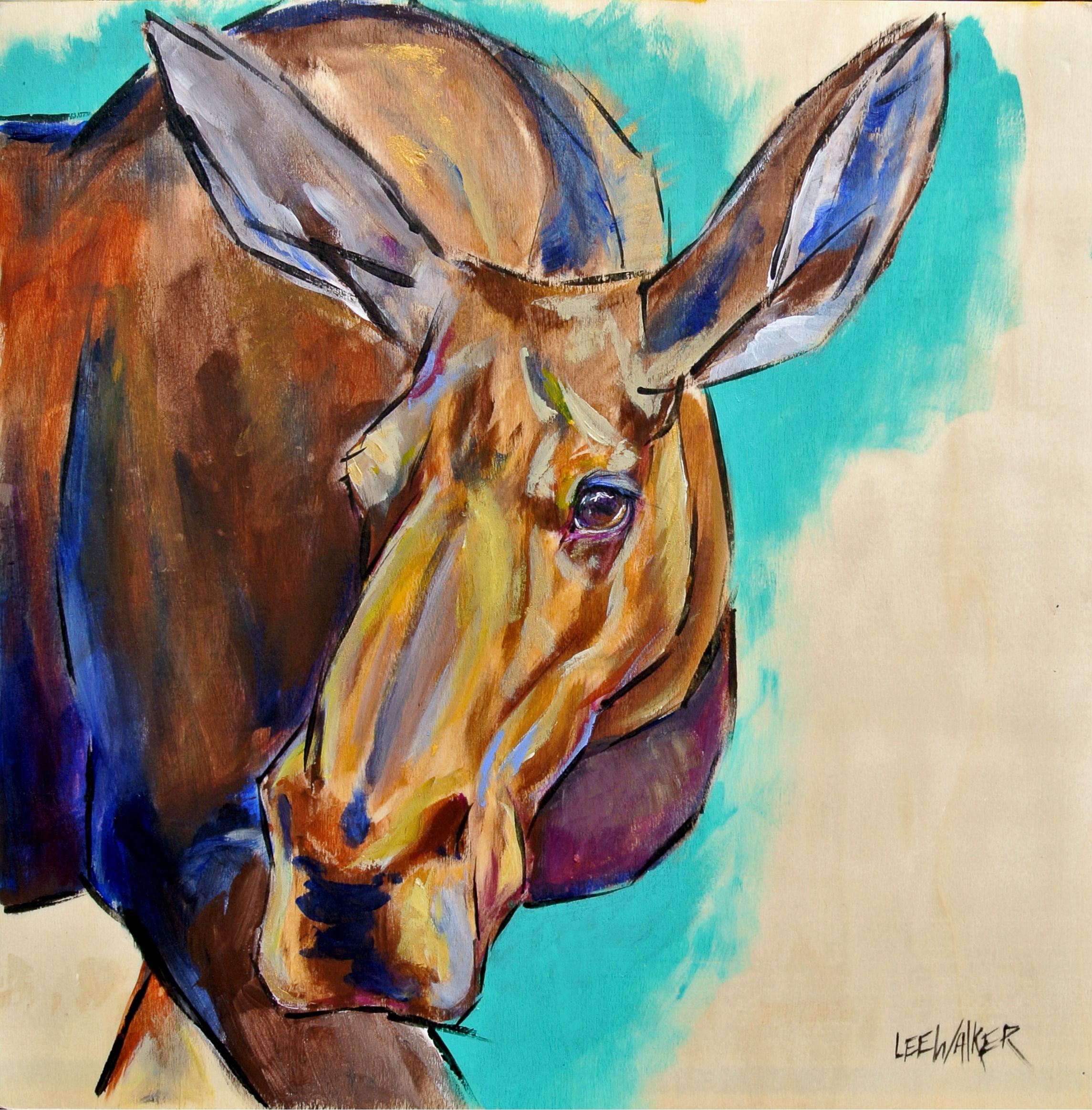 """Cow Moose 12x12"""""""