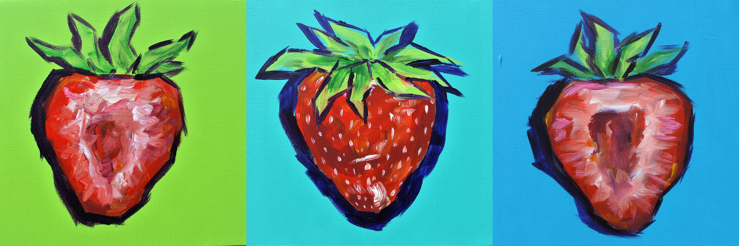 Strawberries 12x36""