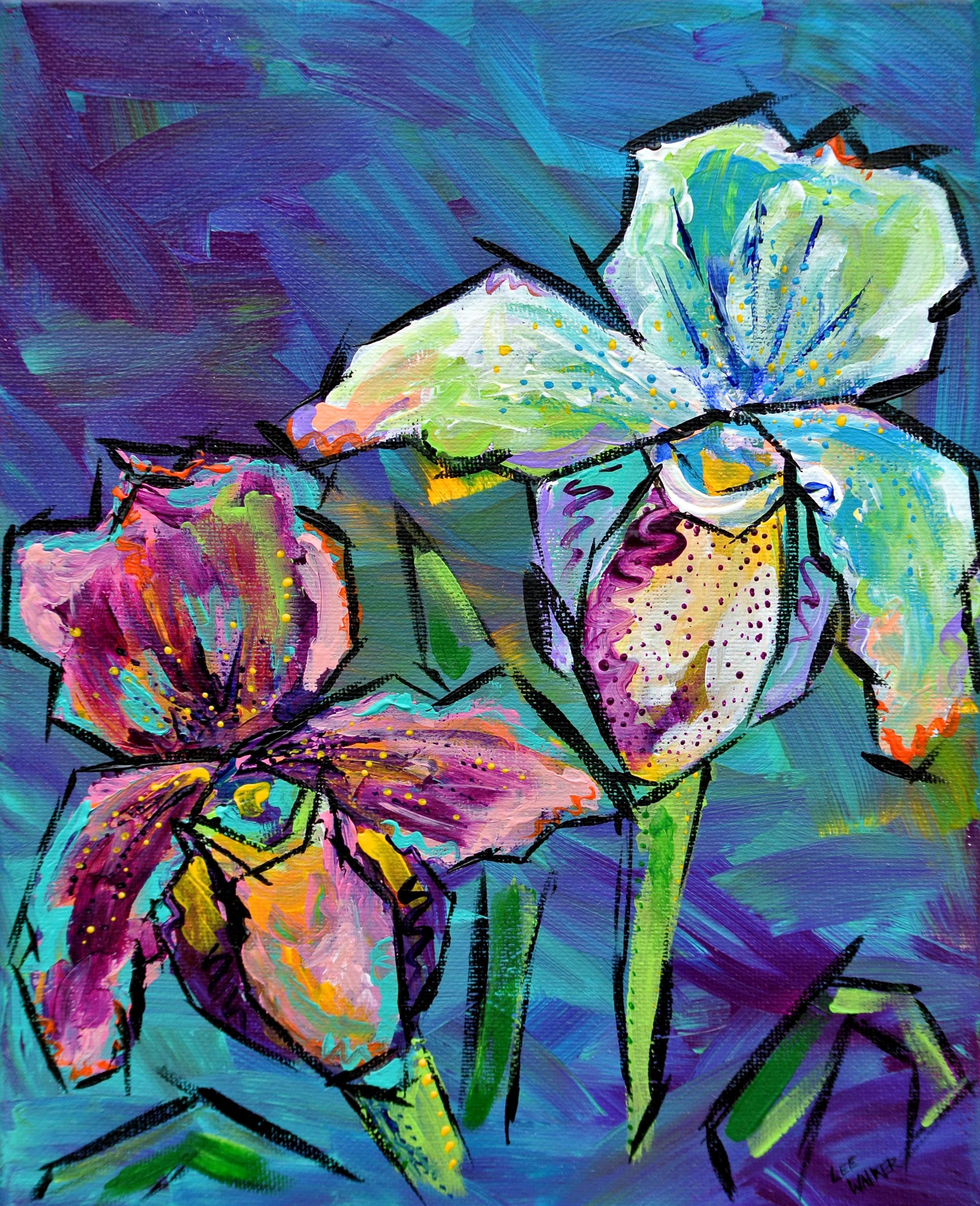 "Orchids 8x10"""