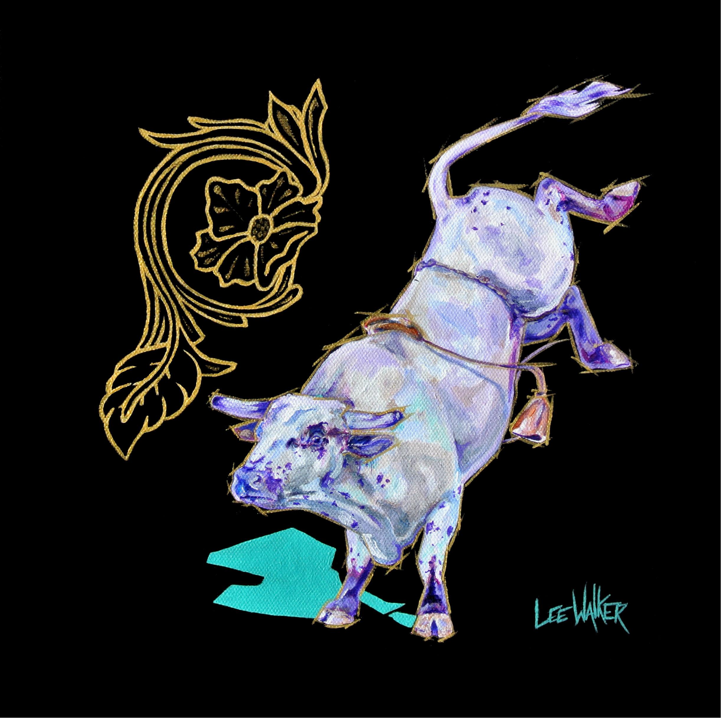 """Flower Bull 1 12x12"""""""