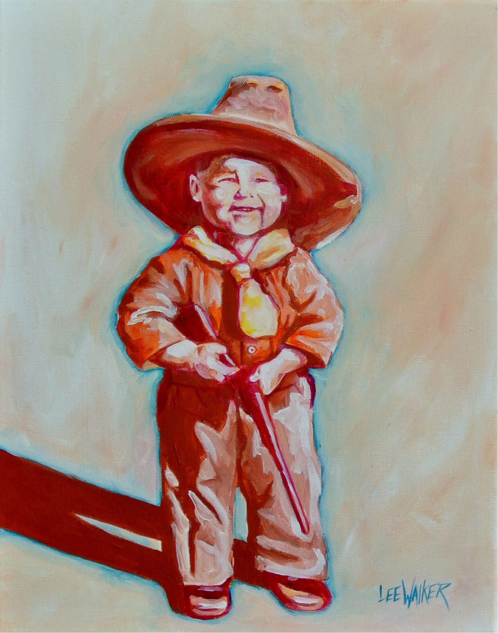 """Littlest Sharpshooter"" 11x14"""
