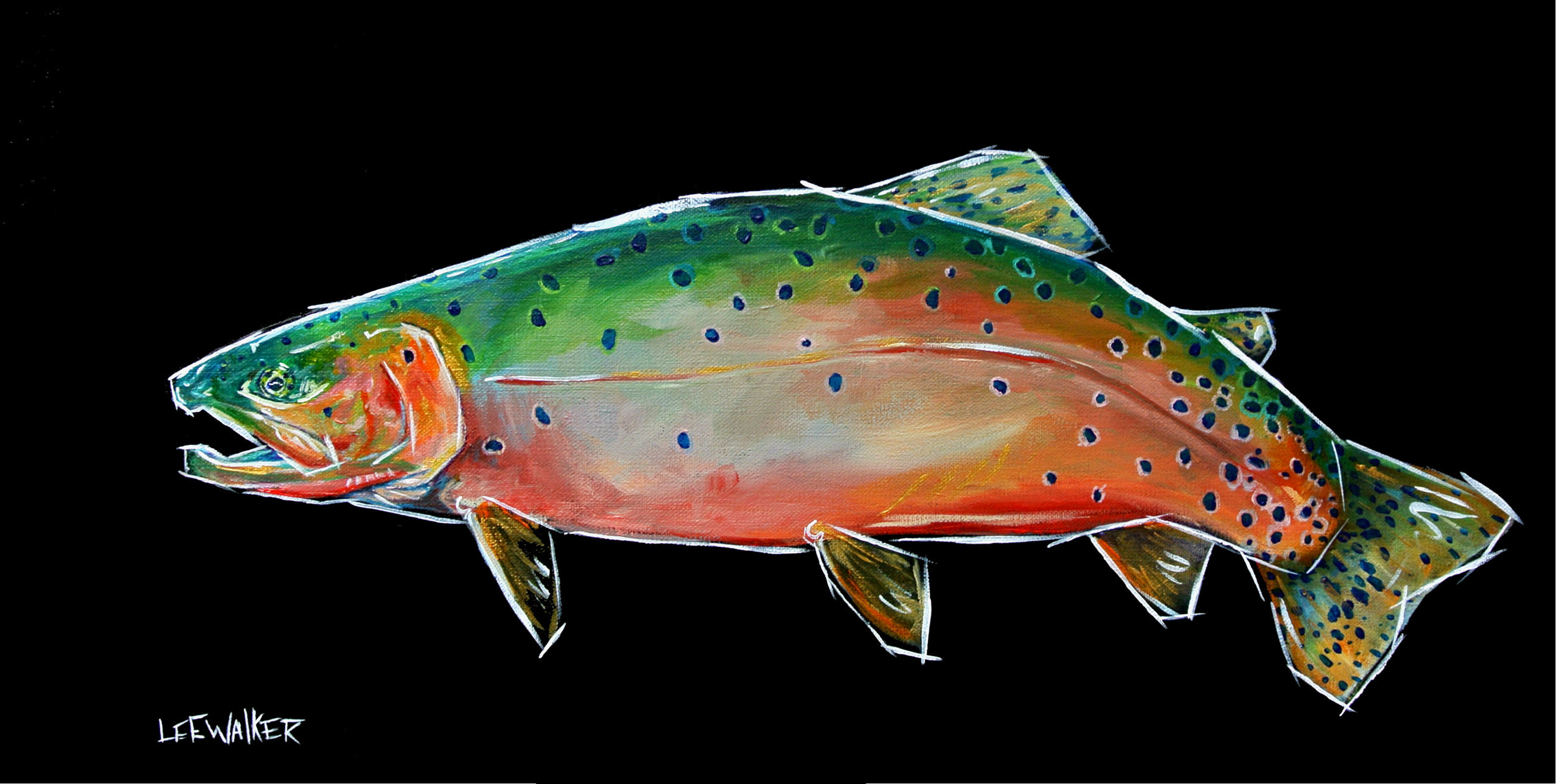"""Cutthroat"" 12x24"""