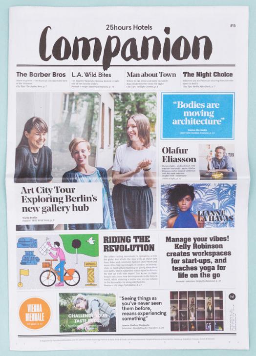 Companion Magazine #5 , Freunde von Freunden for 25hours, 2015   Translation