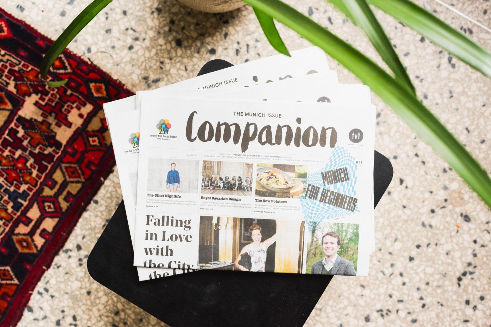 Companion Magazine  #11, Freunde von Freunden for 25hours, 2017   Translation