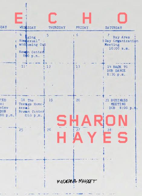 Moderna Museet,  Echo: Sharon Hayes , Koenig Books, 2019   Editing