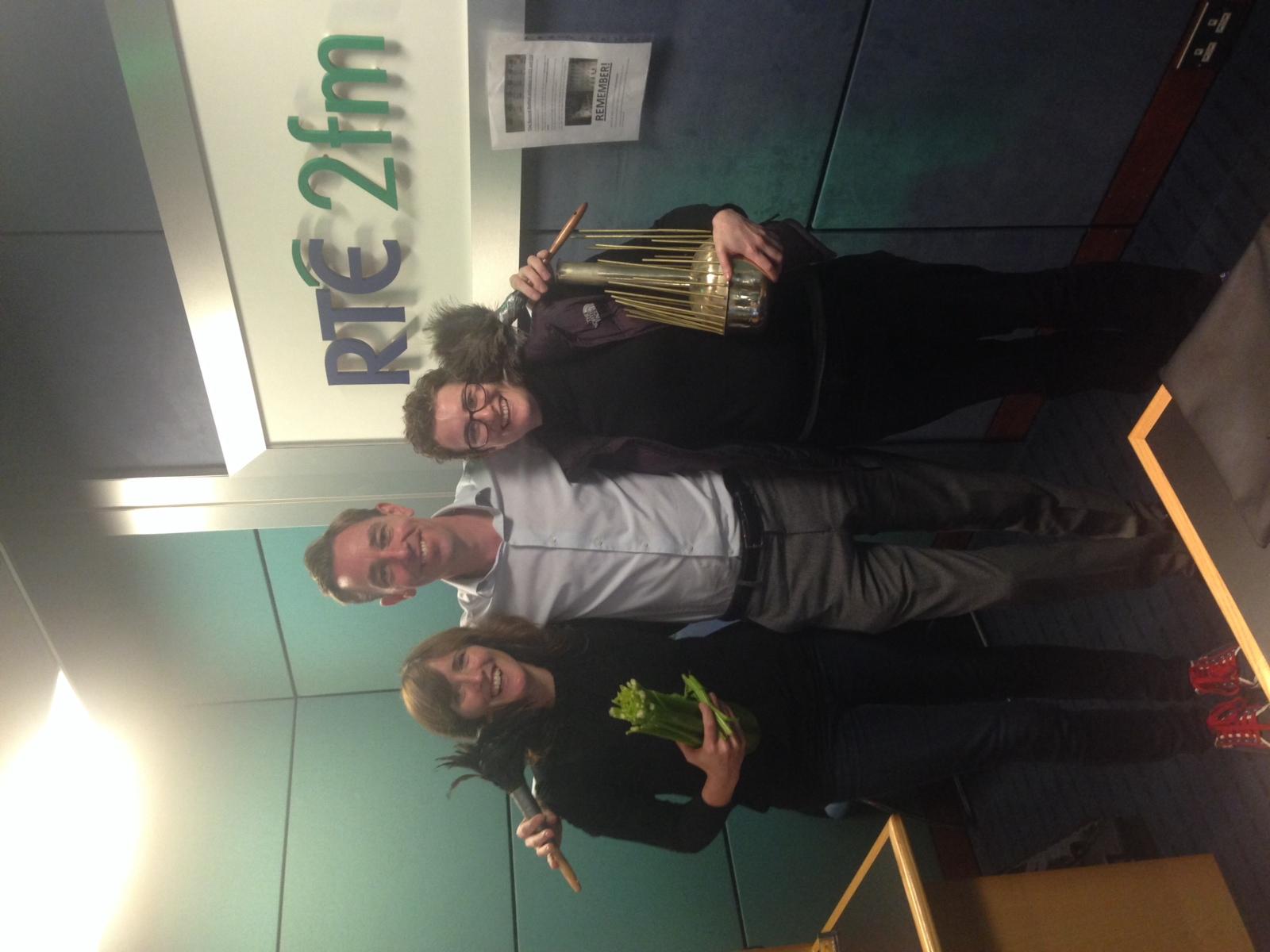 Caoimhe Doyle, Ryan Tubridy and Jean McGrath on  Tubridy on RTE 2FM