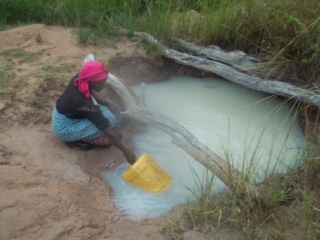The current clean water source in Njebe, Zambia.