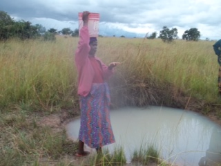"The ""clean"" water source in Simapungula, Zambia."