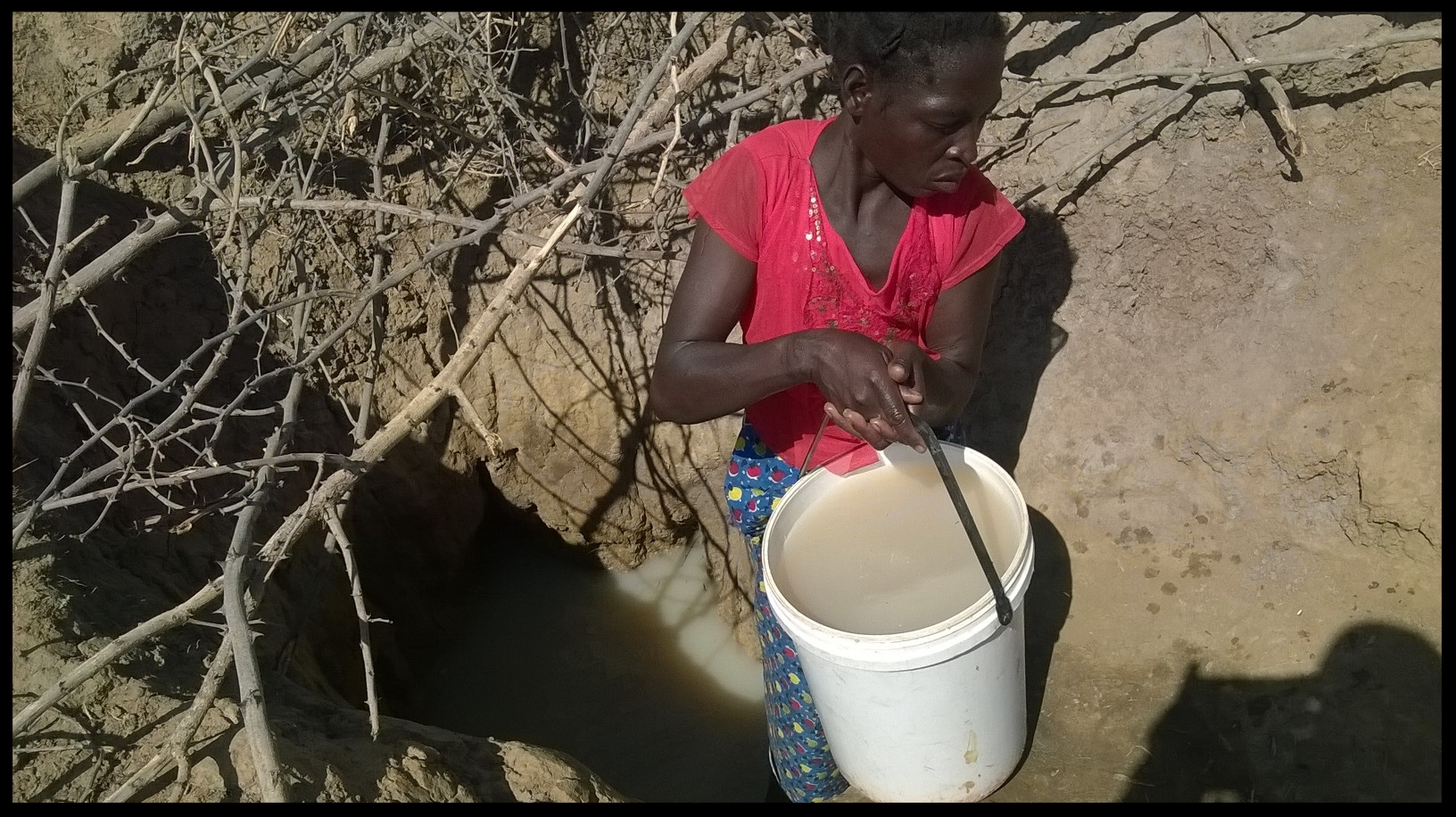 These water holes are the only resource the villagers have to collect water during the rainy season.