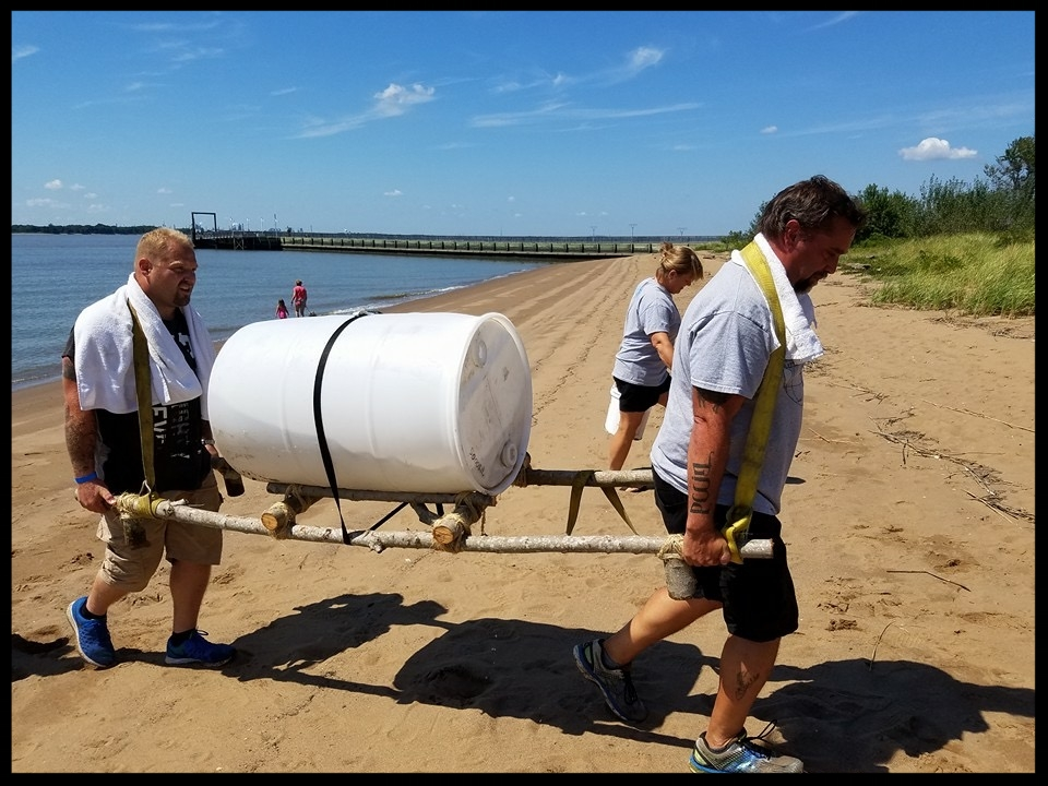 Members of Sharptown Church participate in the Water Walk Fundraiser this year.