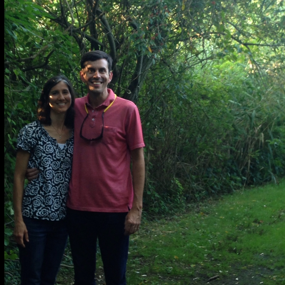 Board Members Jessica and Scott Schwieger on their recent visit to Sharptown Church.
