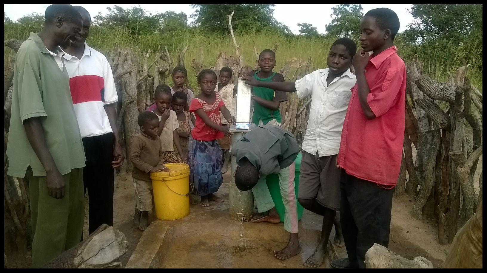 Community members of Kabele, Zambia rejoice over their well that was funded by the Sharptown Congregation. This is one of the many wells Sharptown has funded. We are so thankful for their passion and partnership!