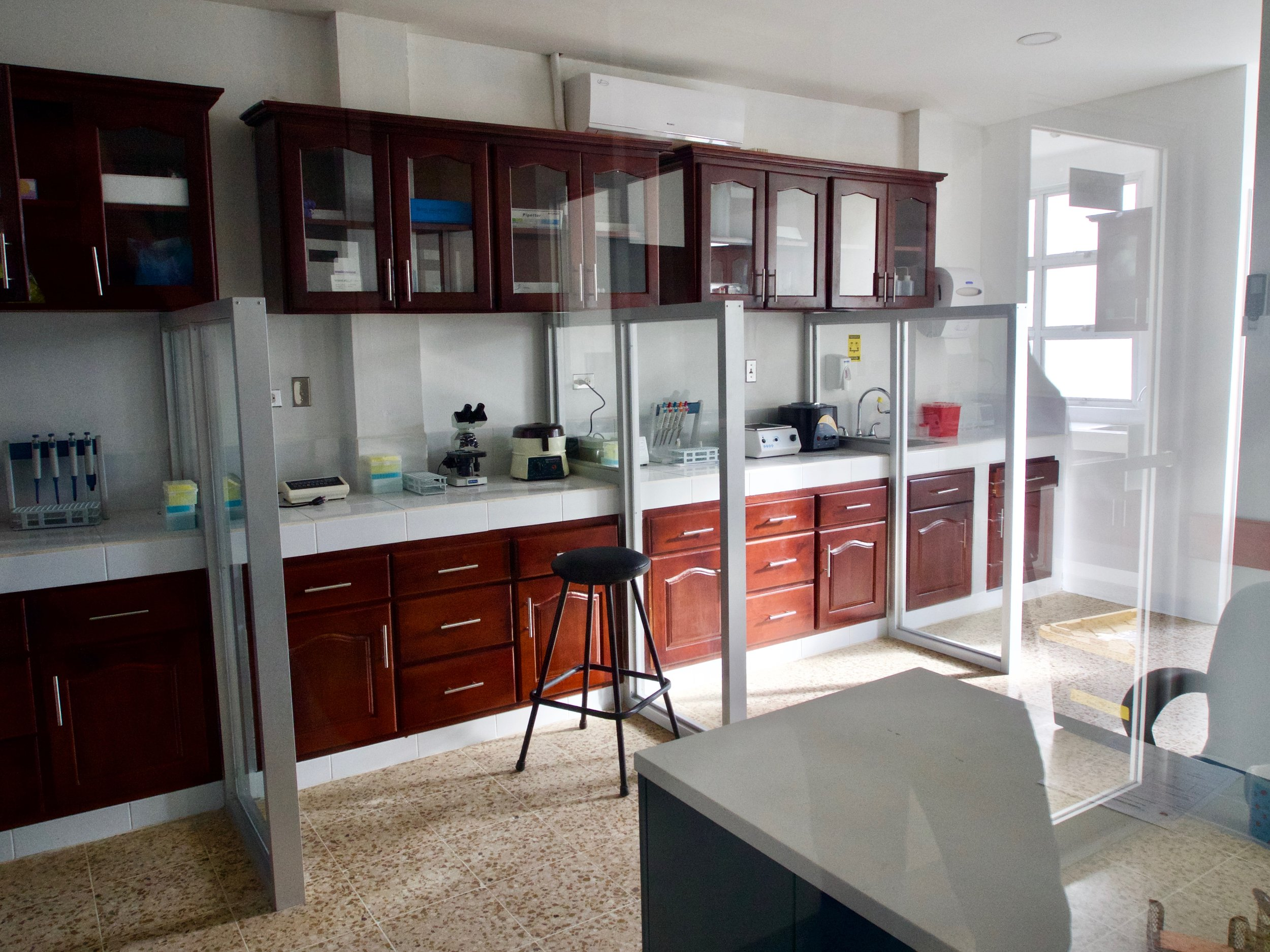 Lab space in the new Jinotega clinic, which opened to patients on February 1
