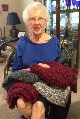 Selma, our first knitter!