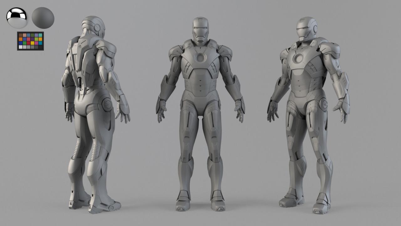 VFX character. Model checker.