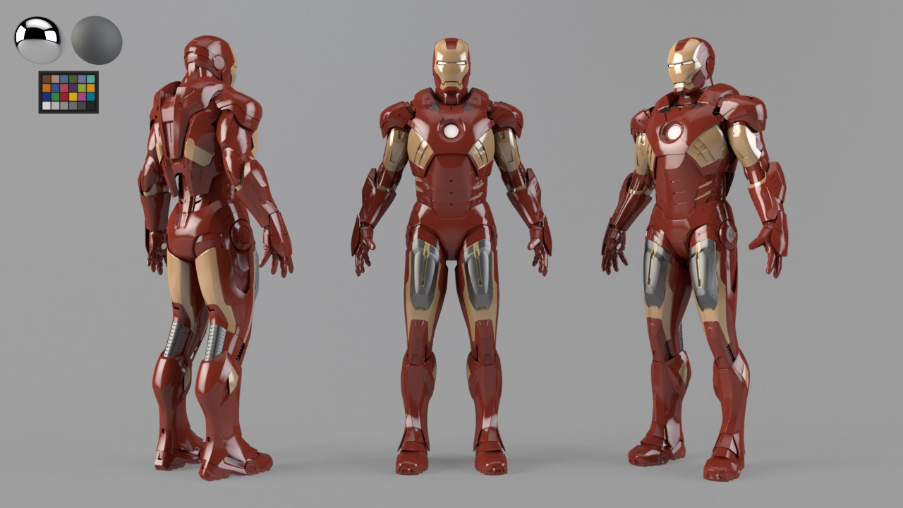 VFX character. Look-dev or shading concept.