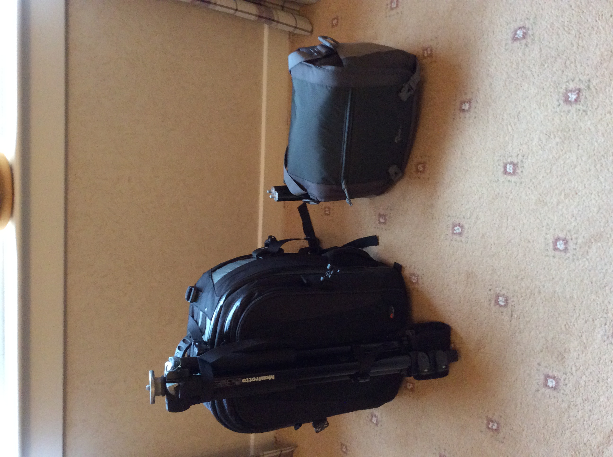 All the equipment packed up. Try to keep everything small and tidy.