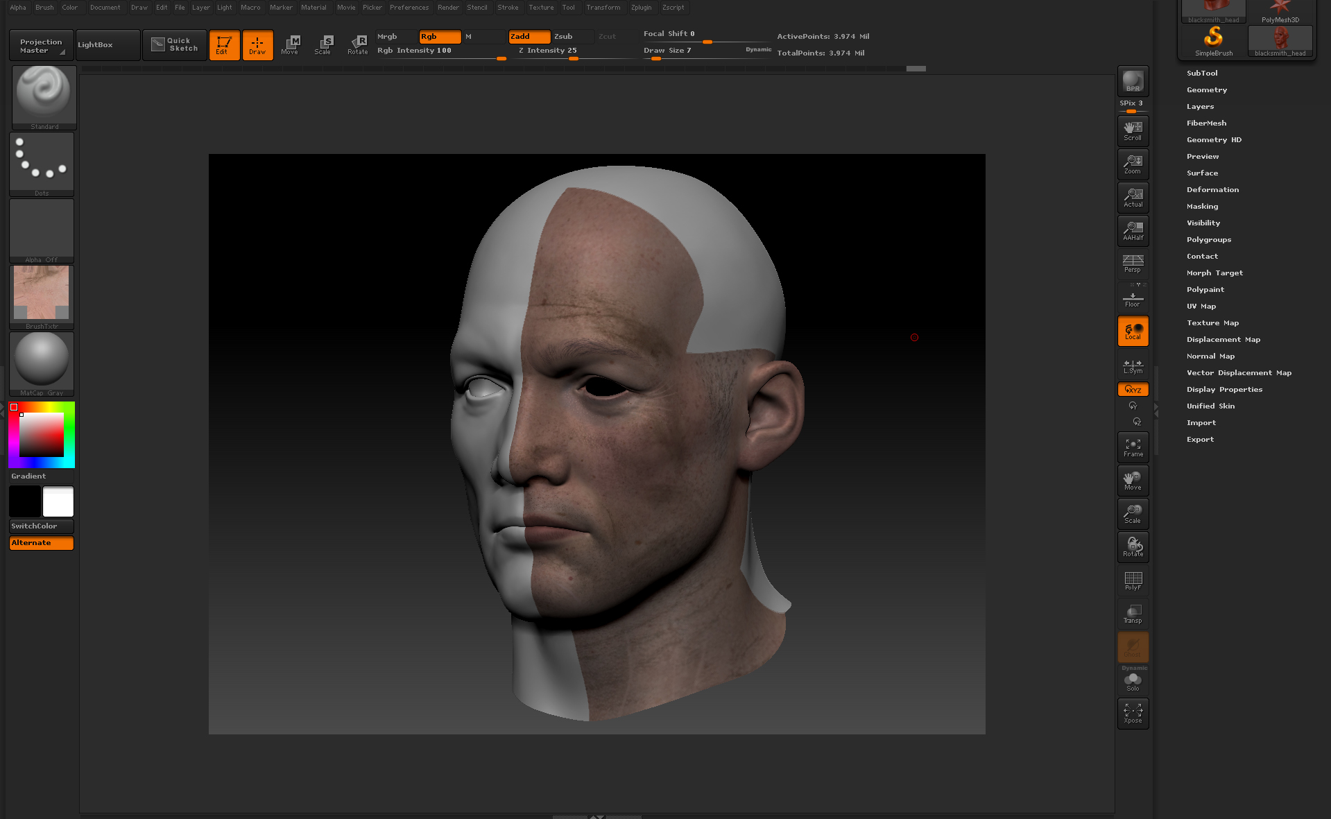 Import UDIMs in Zbrush — xuan prada