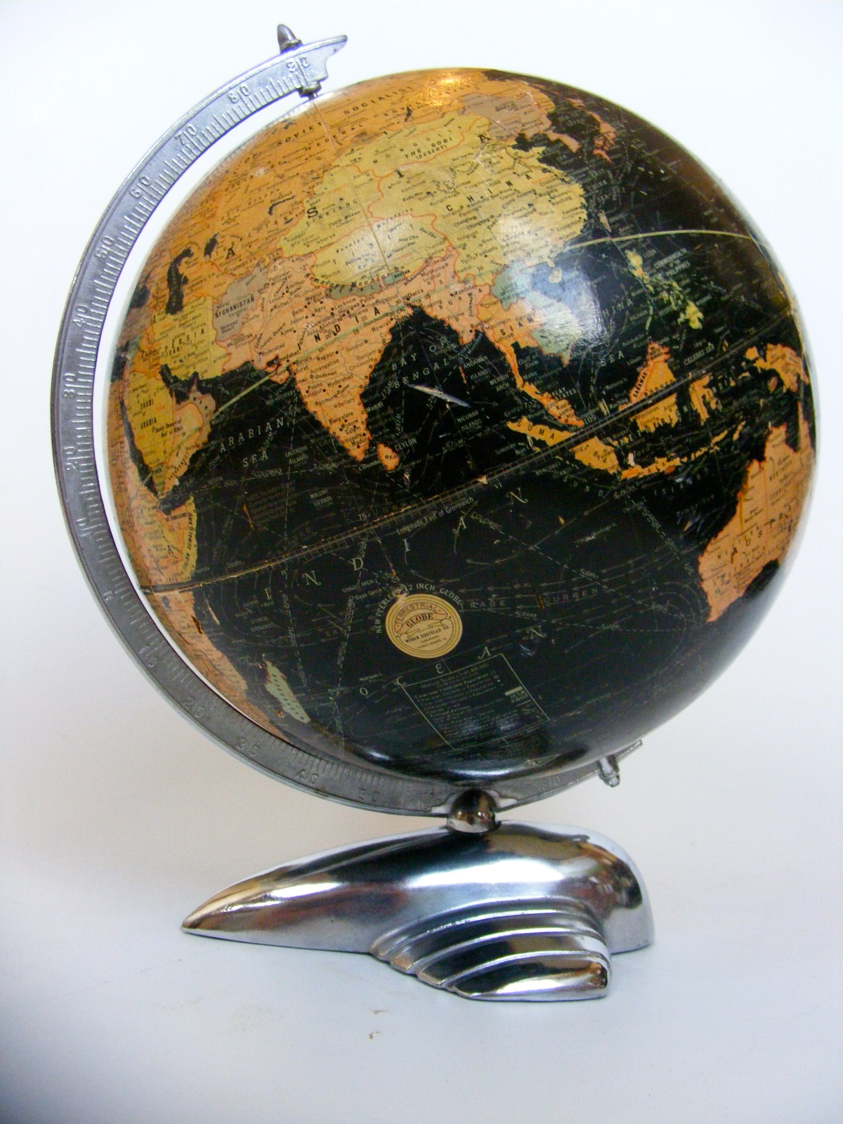 The World Wars - Globes dating in the era of WWI and WWII.
