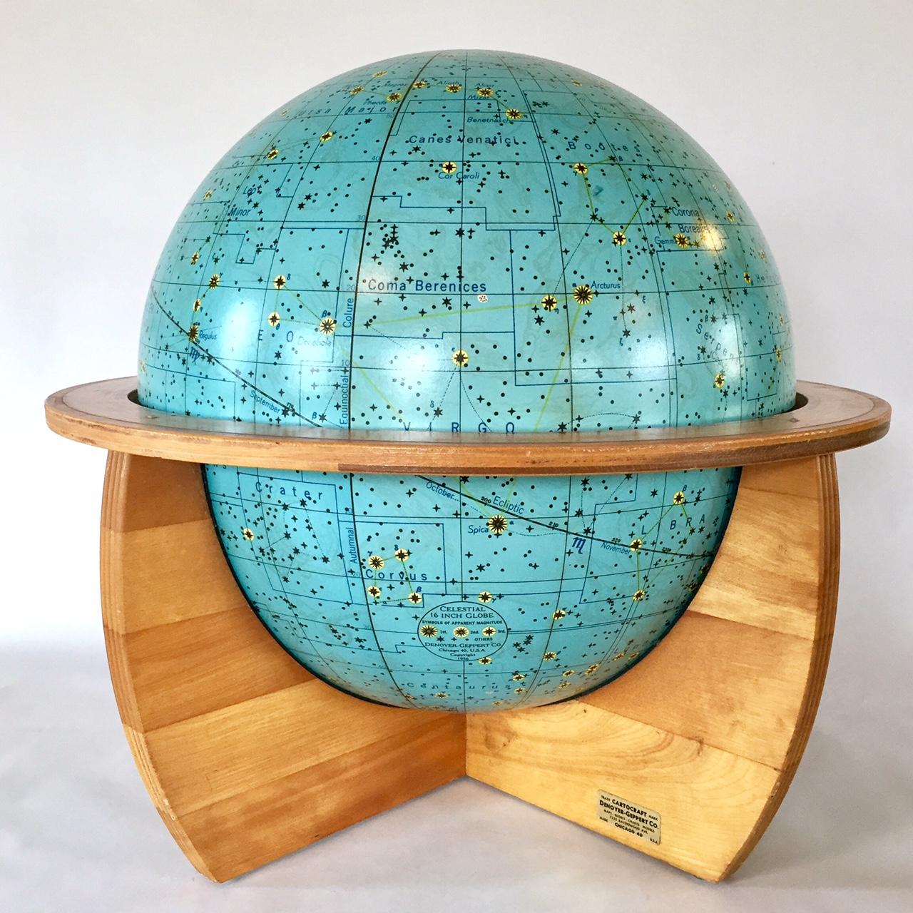 Space Age - Vintage globes dating between 1948 - 1979
