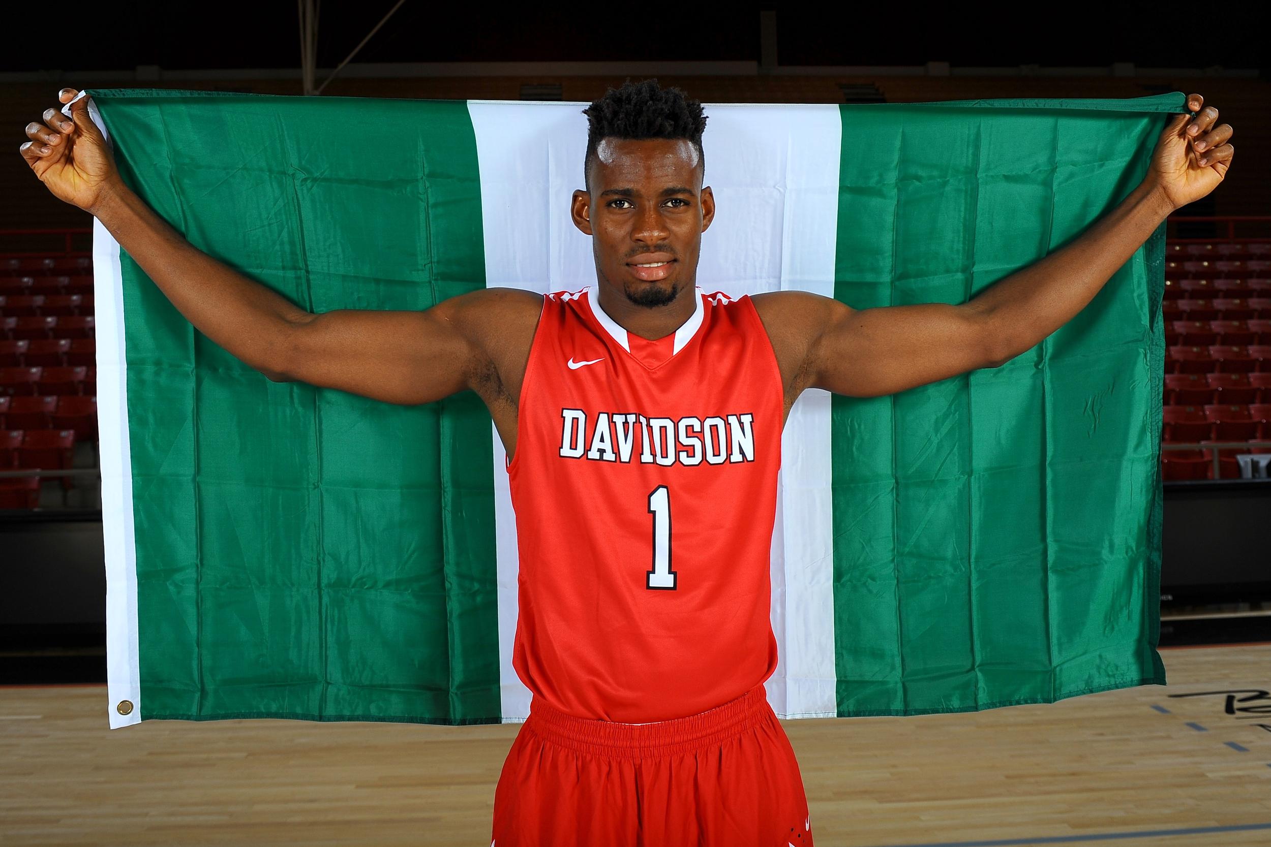 19 October 2014:  Davidson men's basketball pose for their annual team photos at Belk Arena in Davidson, North Carolina. Credit - Tim Cowie - DavidsonPhotos.com