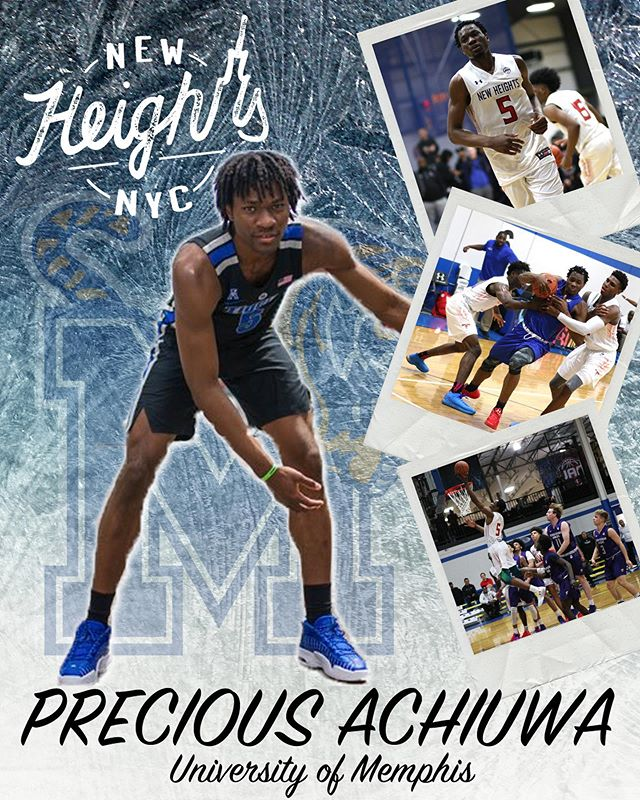Congratulations to Precious Achiuwa on his commitment to the University of Memphis @memphis_mbb. #collegebound