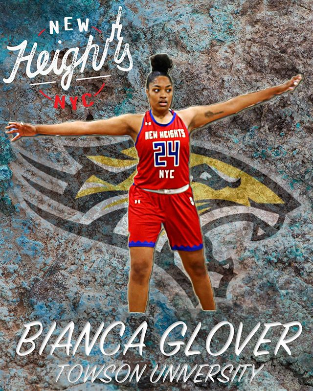 Congratulations goes out to Bianca Glover on her commitment to Towson University. Go Tigers! • #NewHeightsNYC | @TowsonWomensBBall