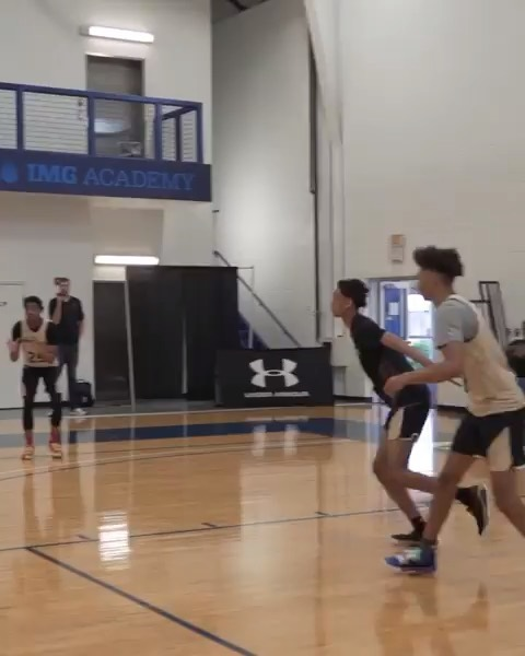 This past weekend, Ryan Myers accepted an exclusive invitation to participate in @UAbasketball's #TheWorkout; a weekend of intense training at IMG Academy in Florida. • Here we see Ryan hitting a game-winning 3🏀 during a run with the other invitees from around the country.  Myers is a rising senior at Christ The King HS in Queens who is making waves on the @UAassociation circuit. • #NewHeightsNYC | #UnleashChaos