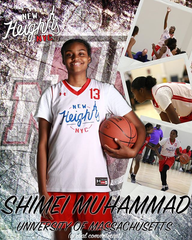 Congratulations goes out to Shimei Muhammad on verbally committing to play at UMass (@umasswbb) next fall! • #NewHeightsNYC