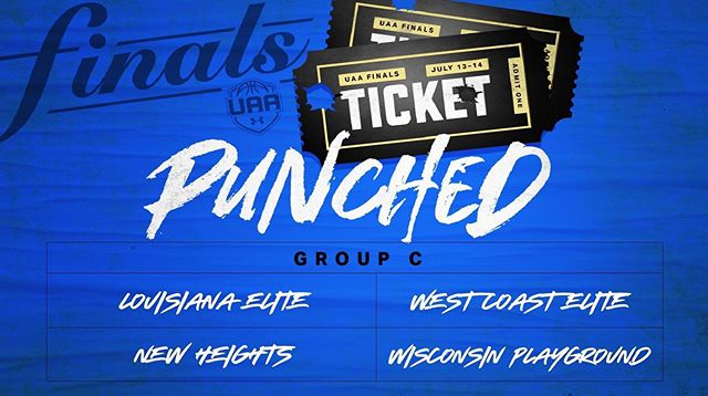‪17U ticket: PUNCHED✔️‬ ‪Saturday @UAassociation schedule:‬ ‪Court 7 - 2:15PM vs Louisiana Elite‬ ‪Court 4 - 8:30PM vs West Coast Elite‬ ‪#NewHeightsNYC‬