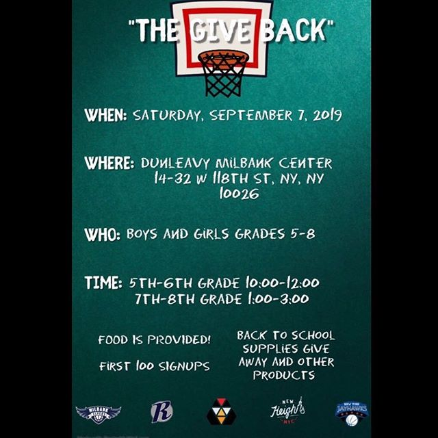 The Give Back is less than 2 weeks away! Spots are going fast, so don't miss your chance to have fun with great basketball workouts and free Back to School gear. #TheGiveBack Link:  https://www.eventbrite.com/e/the-give-back-tickets-68404657171
