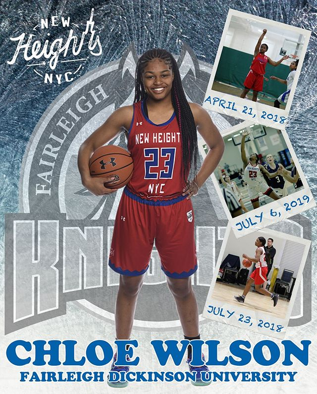 Let's all congratulate Chloe Wilson on her commitment to Fairleigh Dickinson University @FDUKnightsWBB; go Lady Knights!  #NewHeightsNYC
