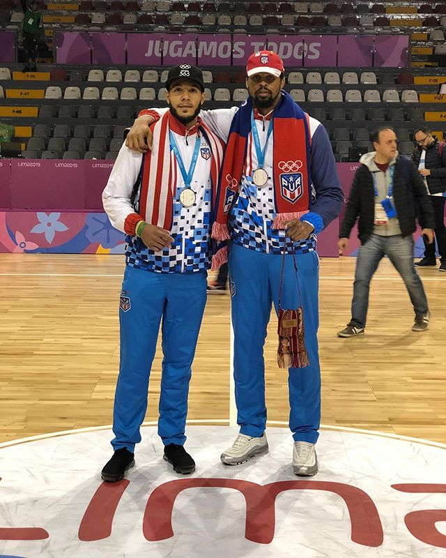 Congrats to #NHalum Emmy Andujar & Devin Collier on earning a Silver medal out in Lima with Team Puerto Rico during the 2019 Pan American Games!
