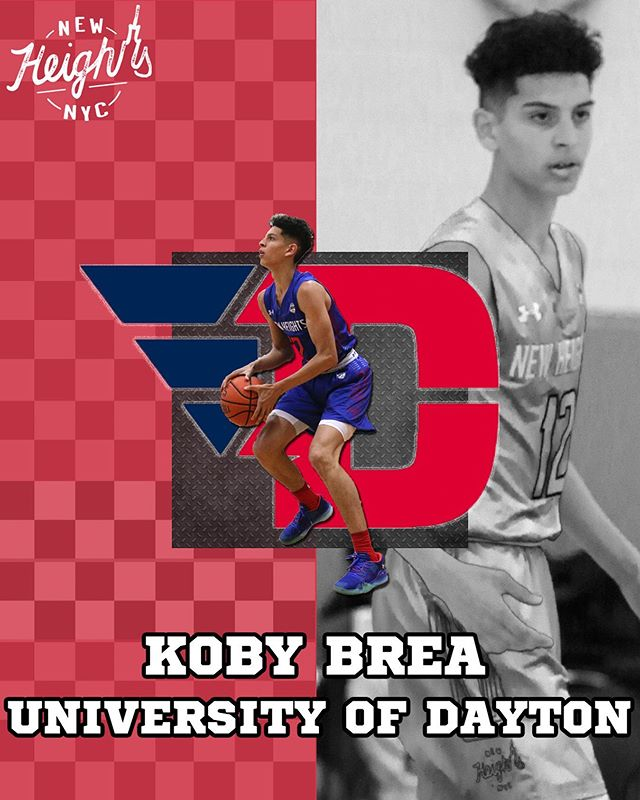 Congratulations to @KobyBrea on his commitment to @Daytonmbb. #CollegeBound #NewHeightsNYC