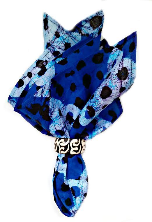 Blue Batik Wax Print Napkins - $41.00 -   Click to Shop
