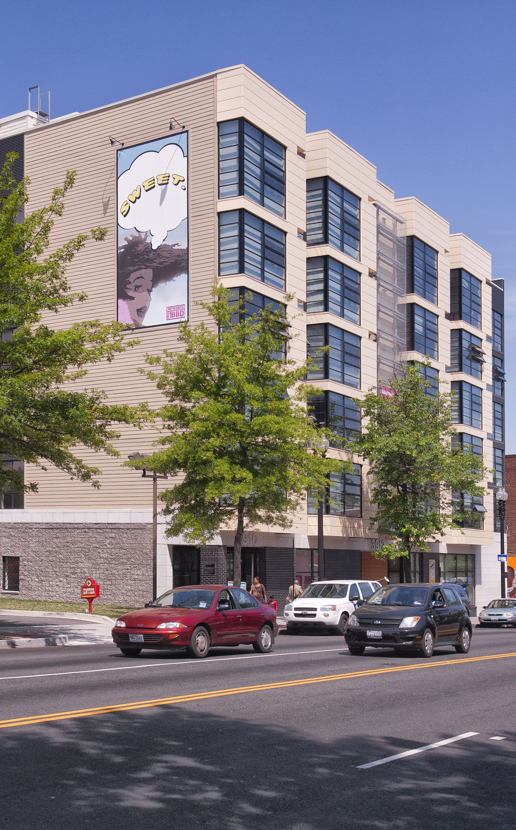 Three Tree Flats  • 130 apartments • Ground floor retail • Petworth, NW Washington, DC
