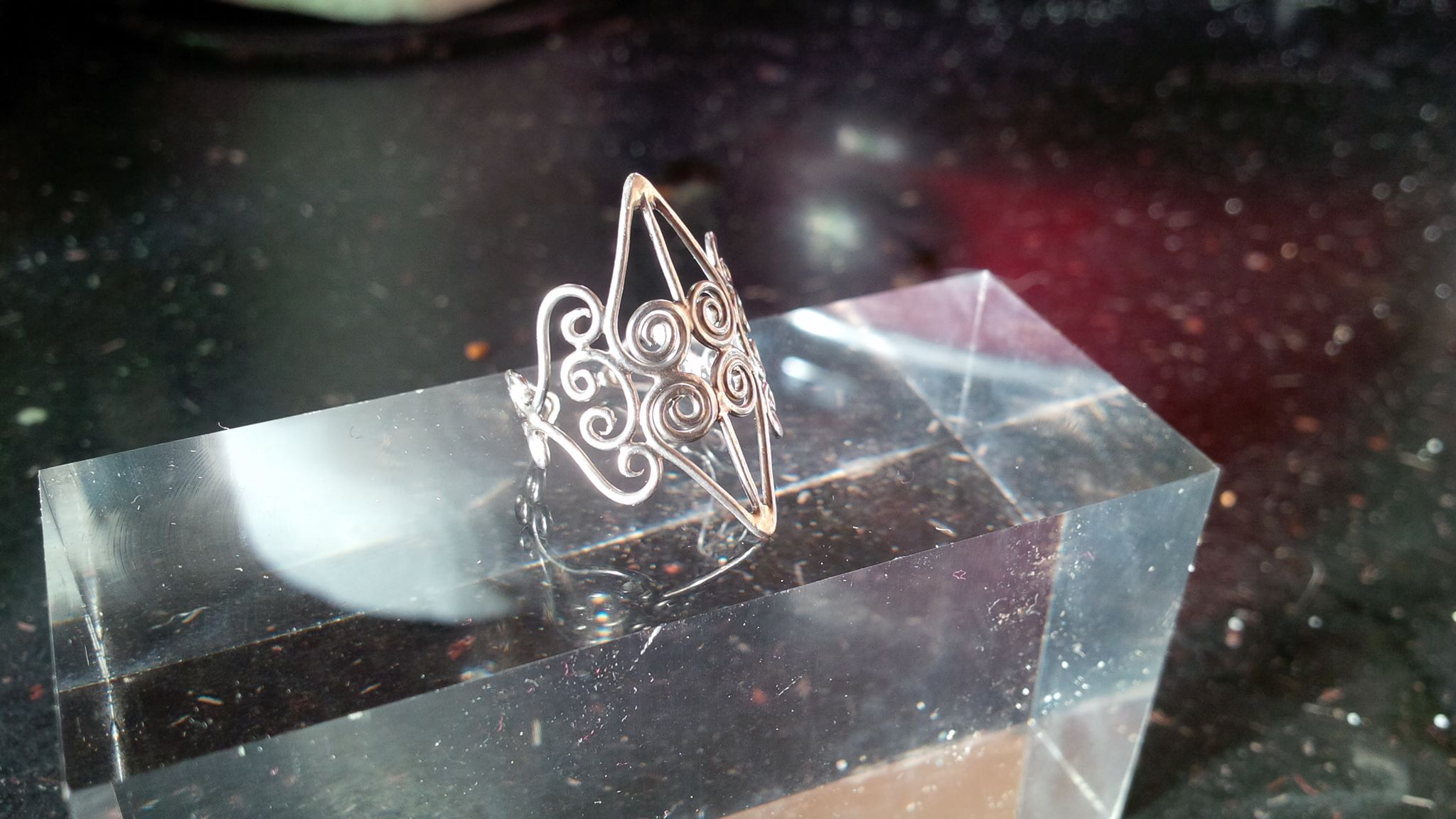 Silver wirework ring - SOLD