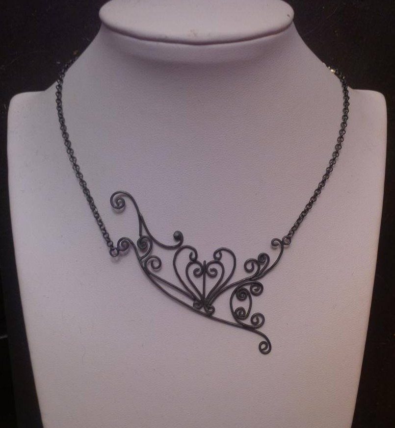 Oxidised silver wirework necklace - AVAILABLE ON COMMISSION - £300