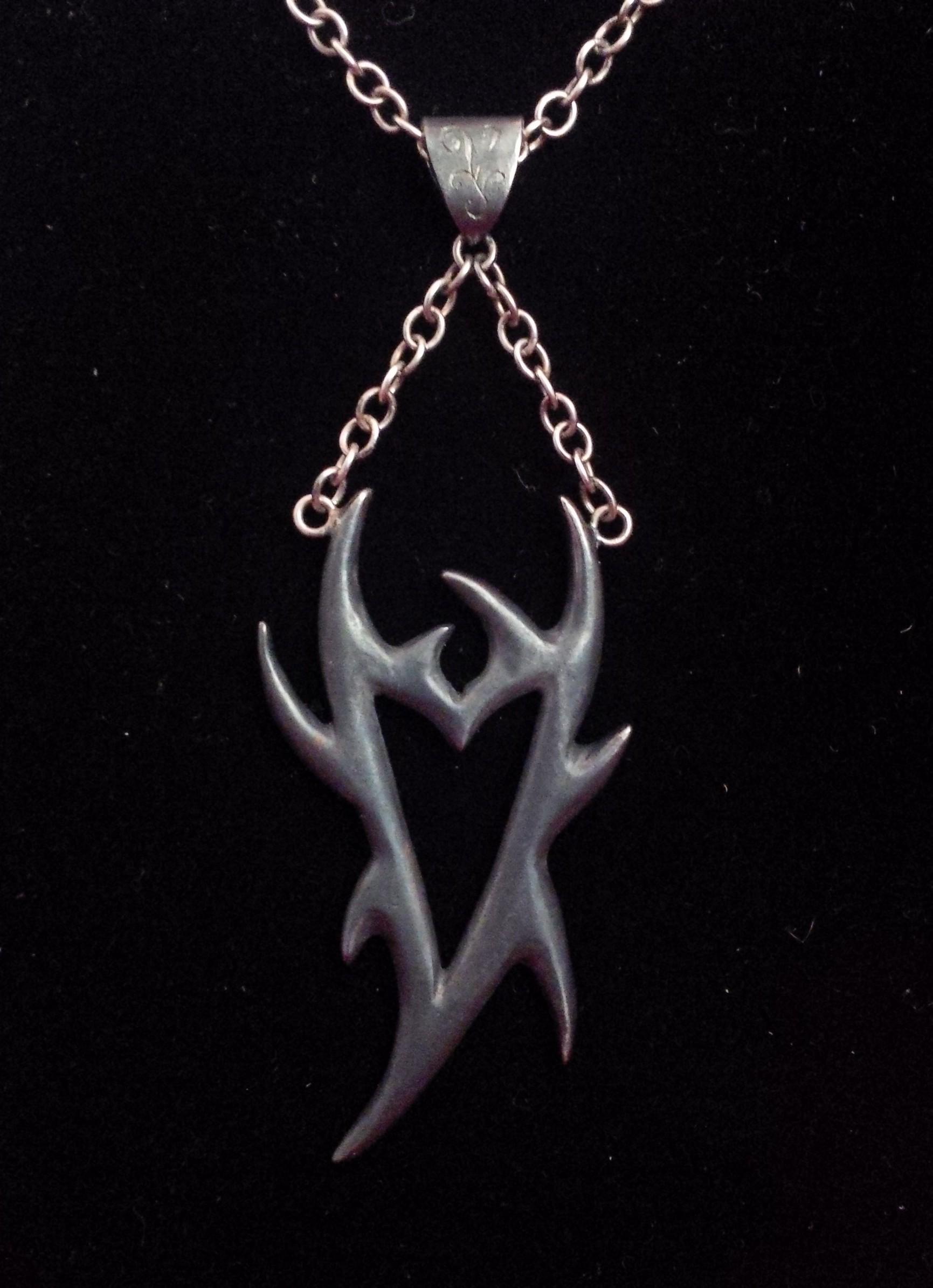 Oxidised spiky pendant -SOLD