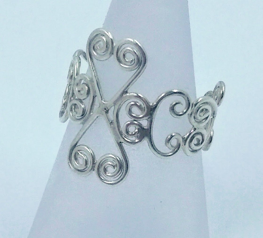Silver wirework ring