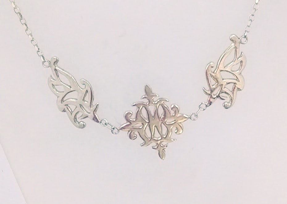 Hand-carved silver necklace -  BUY
