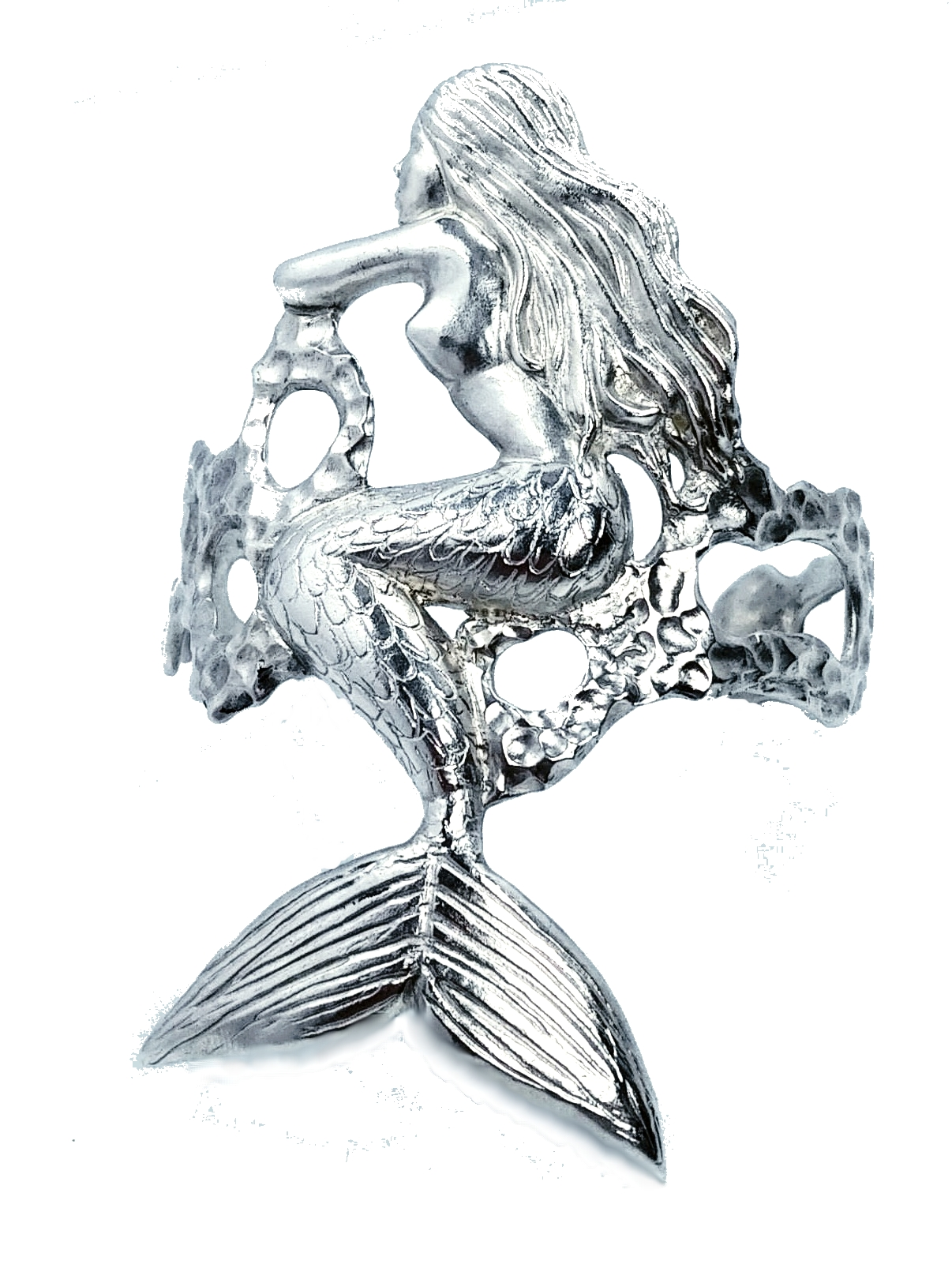 Silver mermaid cuff