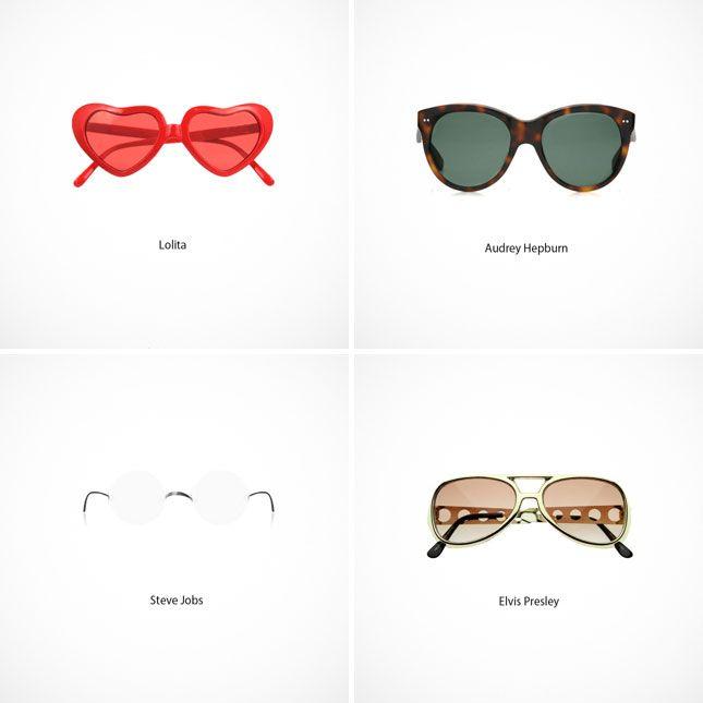 Lentes icónicos/Iconic glasses.